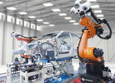 automotive industry, car automated industrial robots