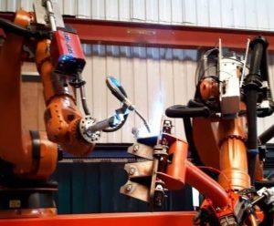 Robot welding systems