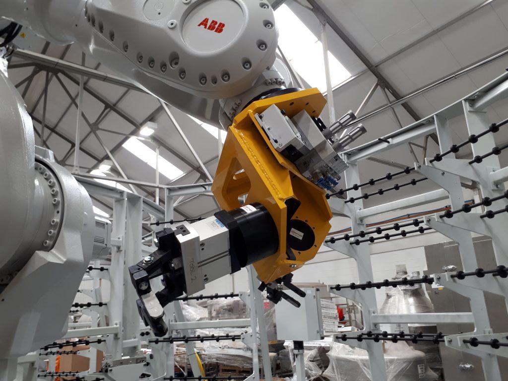ABB assembly line robots