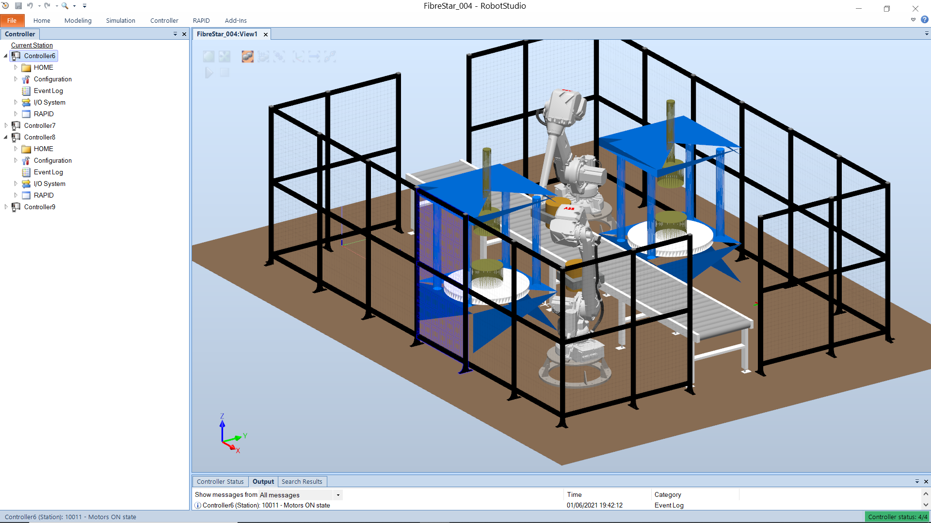 ABB robot simulation